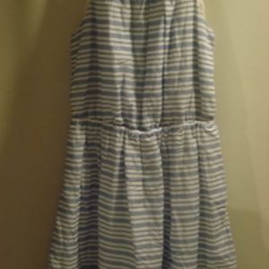 Old Navy blue/white stripe dress in Small